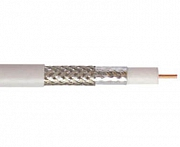 Coaxial cable, 75 Ohm, 2-way shielded, >90dB