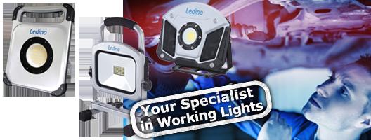 LED-Arbeitsstrahler Akku