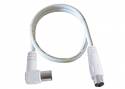Antenna cable, plug/angled jack, >75 dB, double shielded