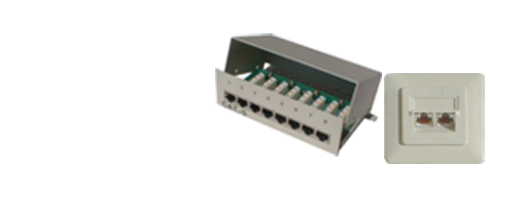 RJ45 Wall Sockets + Patch Panels
