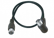 Ant. cable, angled Q-F-plug/Q-F-plug, discontinued line, >75dB