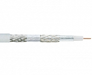 Coaxial cable, 75 Ohm, 4-way shielded, >110dB
