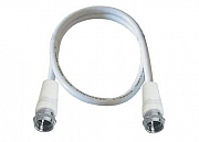 Antenna cable, F-plug/F-plug, double shielded, Class A, >90 dB, white