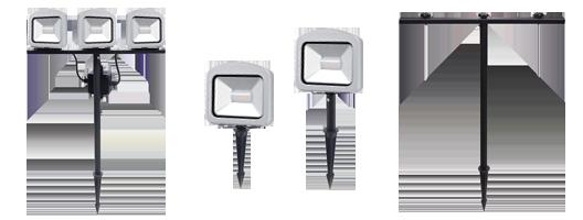 Erdspieße für LED-Strahler